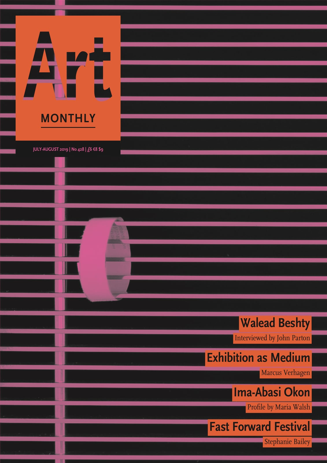 Cover of Art Monthly magazine