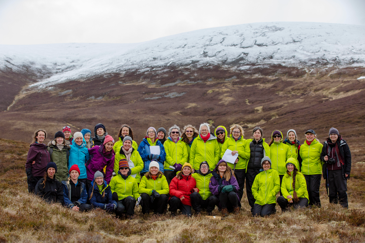 Large choir group in the glen